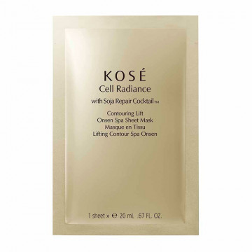 Cell Radiance with Soja Repair Cocktail TM Contouring Lift Onsen Spa Sheet Mask
